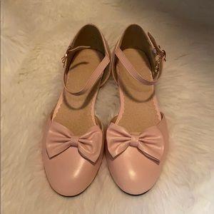 Pink Mary Jane flats
